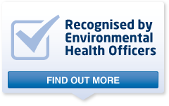 Recognised by EnvironmentalHealth Officers