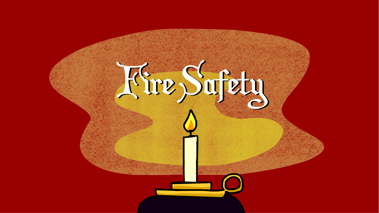 christmas, fire safety