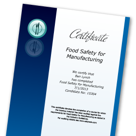 Online Food Safety for Manufacturing Course Level 2