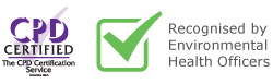 CPD Certified, Recognised by EHO's