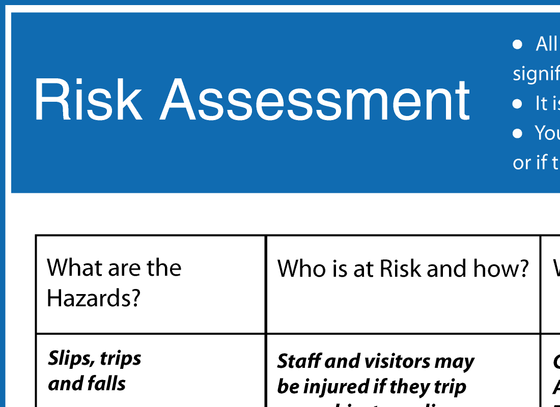A category for all our free health safety and food safety resource new resource added risk assessment xflitez Gallery