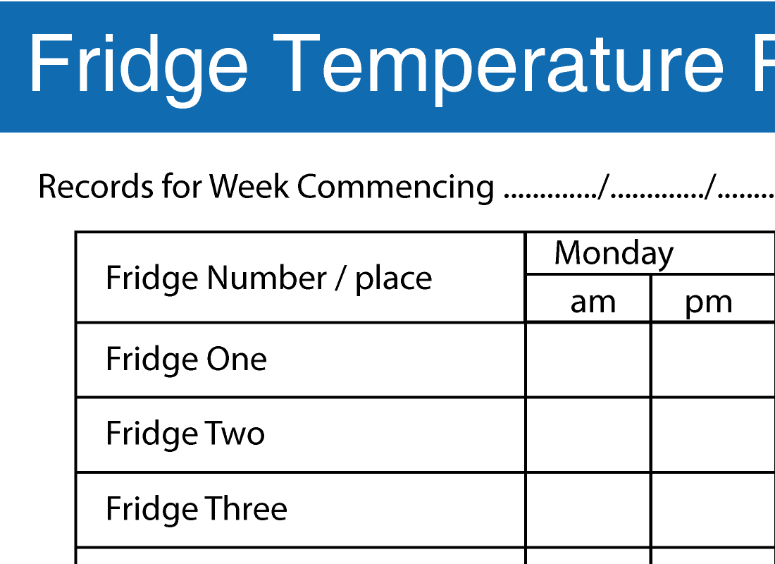 Temperature Chart Template for Pinterest